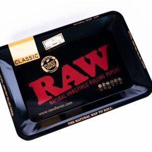 RAW Black Metal Rolling Tray 5X7 Premium Quality